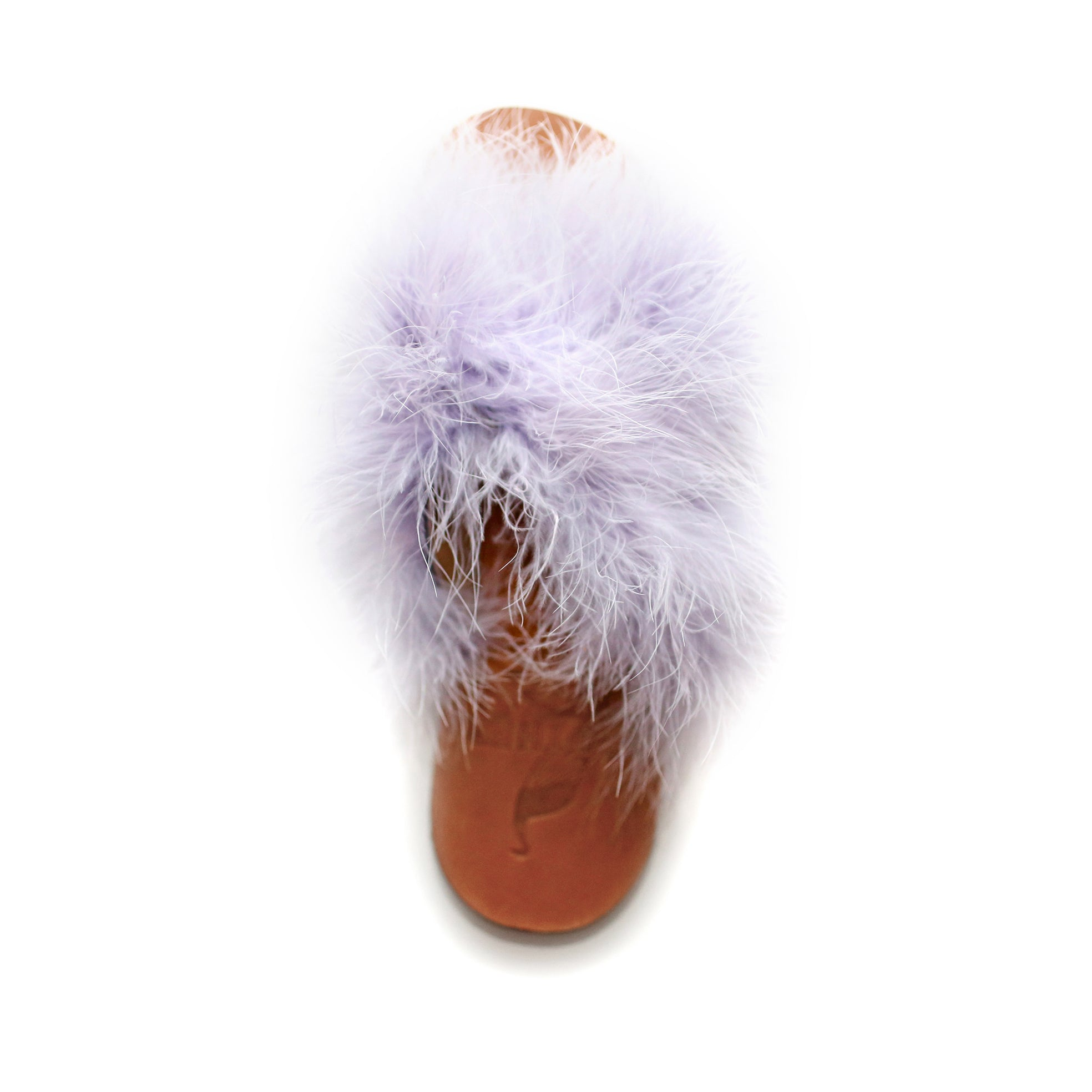 Brother Vellies Marabou Lamu Sandal Lavender on Well(un)known Available at wellunknown.com