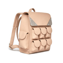 Valas Micro Voyager Bookbag with outside pockets in pink on Well(un)known Available on wellunknown.com