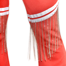 Each x Other Red Track Pants with Diamond Fringe on Well(un)known Available at wellunknown.com