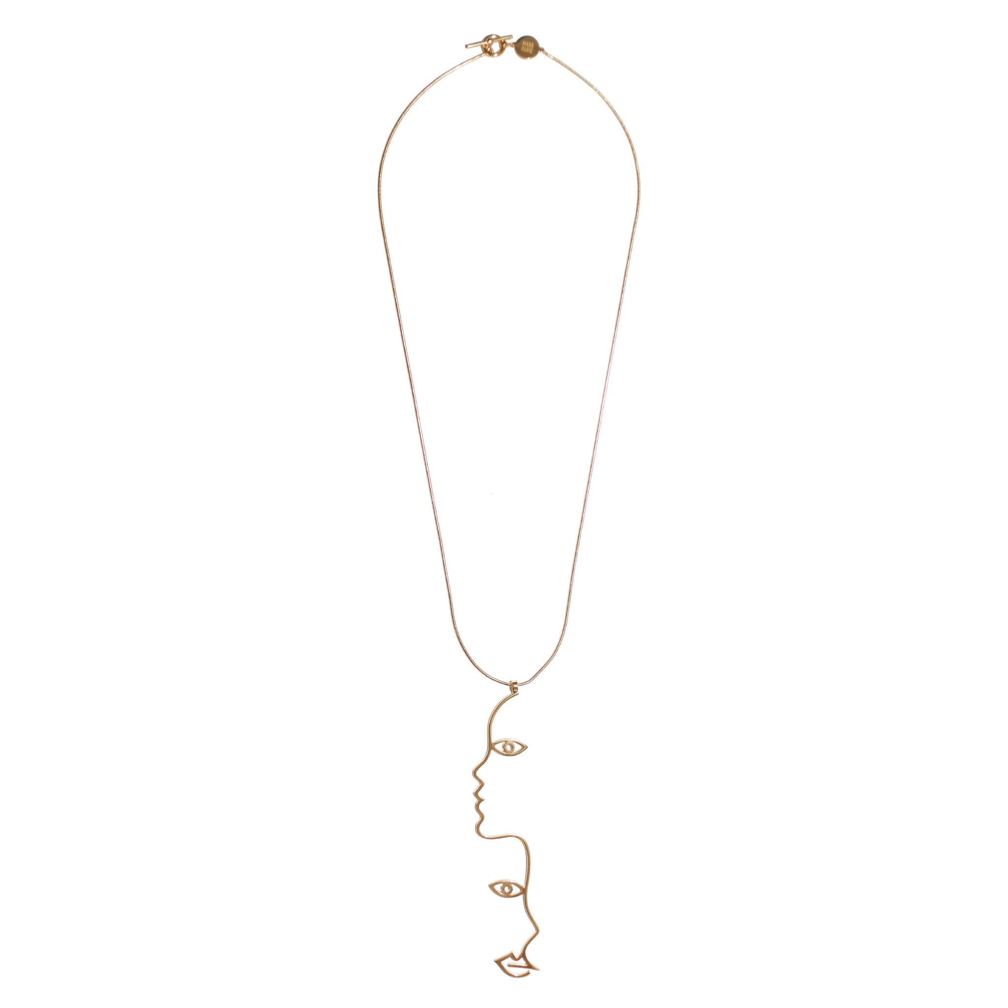 Mara Paris Two Face Necklace Vermeil