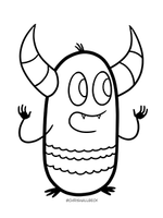 Pebble and Wren Coloring Page 1
