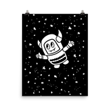 Pebble Among the Stars Print (Black & White)