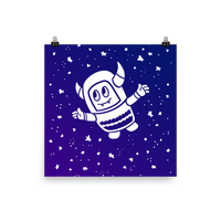 Pebble Among the Stars Print (Purple & Blue)