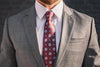 brown tie gray suit foundation menswear