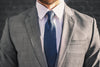 navy silk woven grenadine italy foundation menswear gray suit