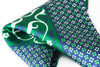 tribal floral green silk pocket square geometric diamonds foundation menswear