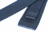 silk navy knit tie square foundation menswear