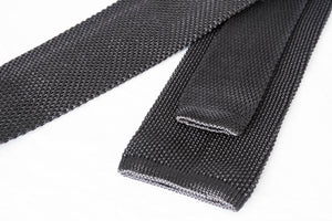 gray knit tie foundation menswear