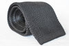 silk gray grey knit tie square bottom charcoal foundation menswear