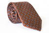 brown floral silk twill tie foundation menswear