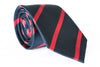 navy red stripe tie foundation menswear