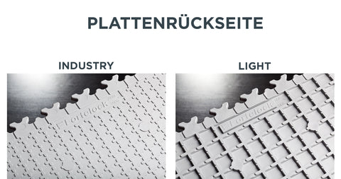 Plattenrückseite INDUSTRY VS LIGHT