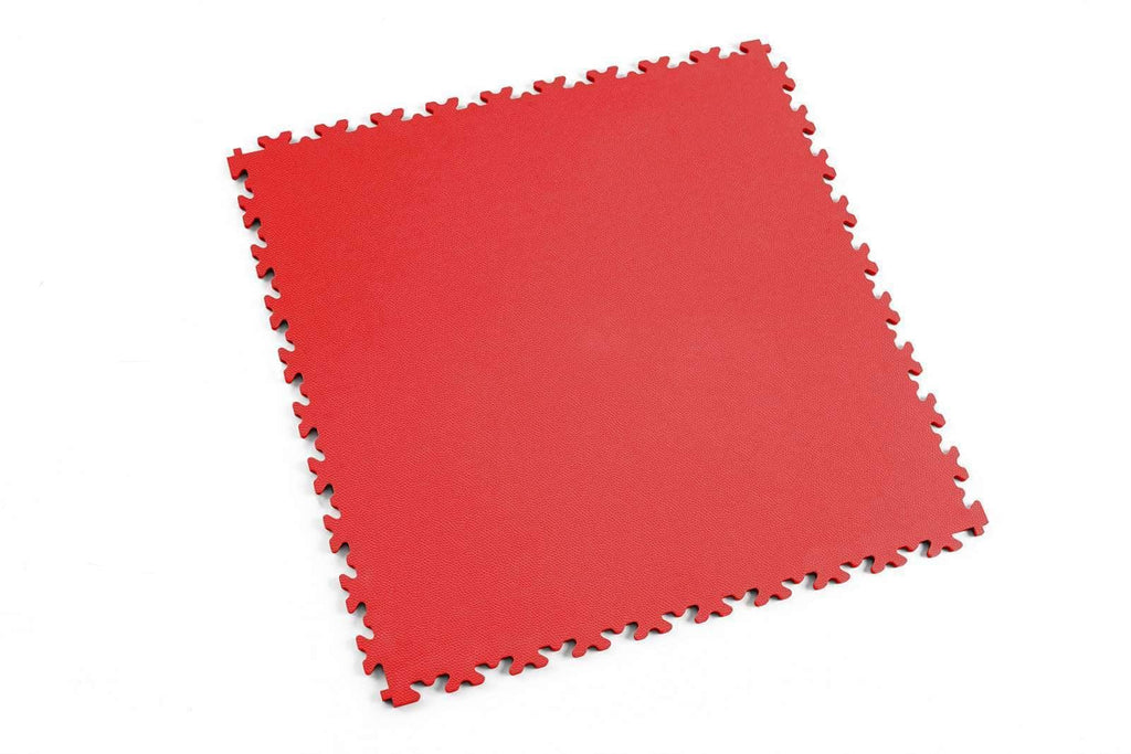 "DALLE PVC ""INDUSTRY"" CUIR ROUGE - PROMO-SOLS"