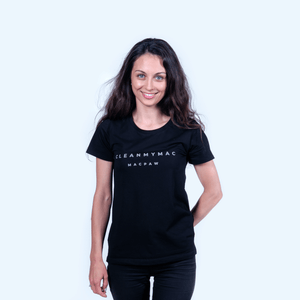 CleanMyMac Logo Women's Black T-Shirt