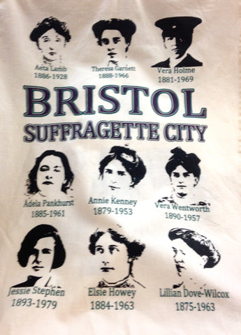 Bristol Suffragette Tea towel