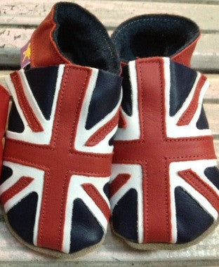 union jack baby shoes