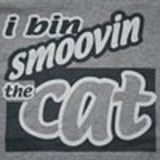 Smoovin the cat [Womens fitted tops]