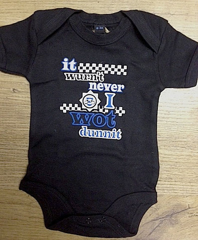 it wurn't never i wot dunnit Babygrow