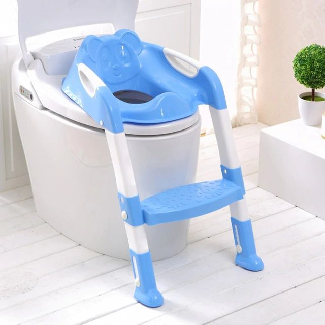 Baby Toilet Seat With Adjustable Ladder