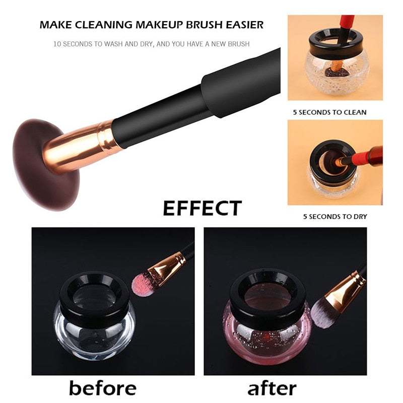 Electric Makeup Brush Cleaner & Dryer Set