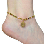 Initial Letter Anklet Chain