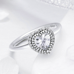 925 Sterling Silver Ring - Crystal Love