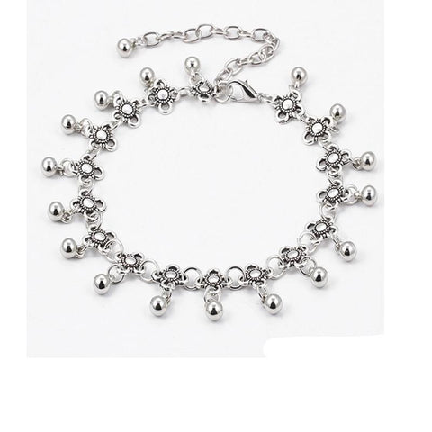 Flower Link Chain Anklet