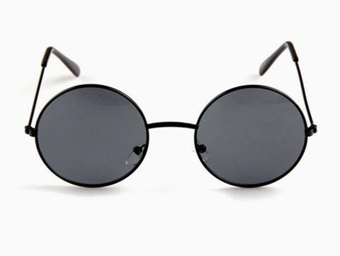 Round Metal Framed Retro Sunglasses