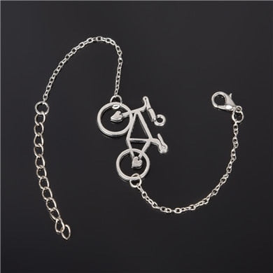 Silver Plated Charm Bracelet - Bicycle