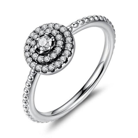 925 Sterling Silver Ring - Radiant Dazzle