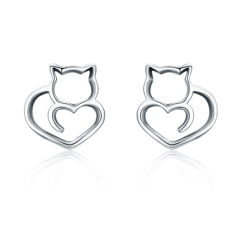 925 Sterling Silver Earrings - Lovely Pussycat