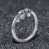 925 Sterling Silver Ring With Crystal - Glittering Love