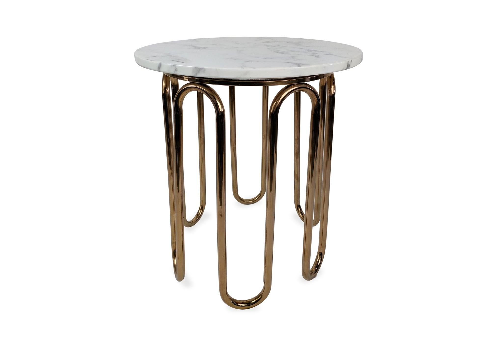 Denby Side Table - Marble