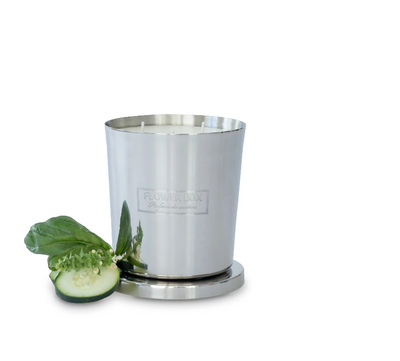 Flower Box Cucumber & Wild Basil fragrance Candle