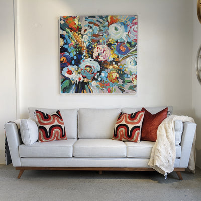 Arrangement Framed Wall Art 120x120cm