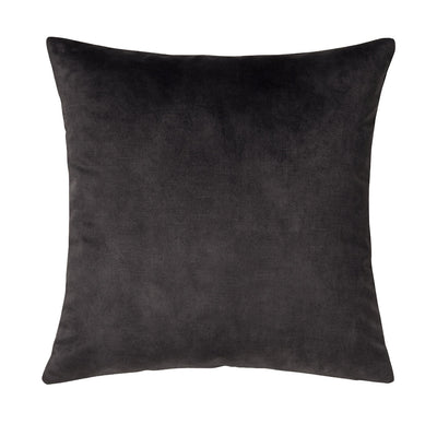 Lovely velvet cushion - Coal