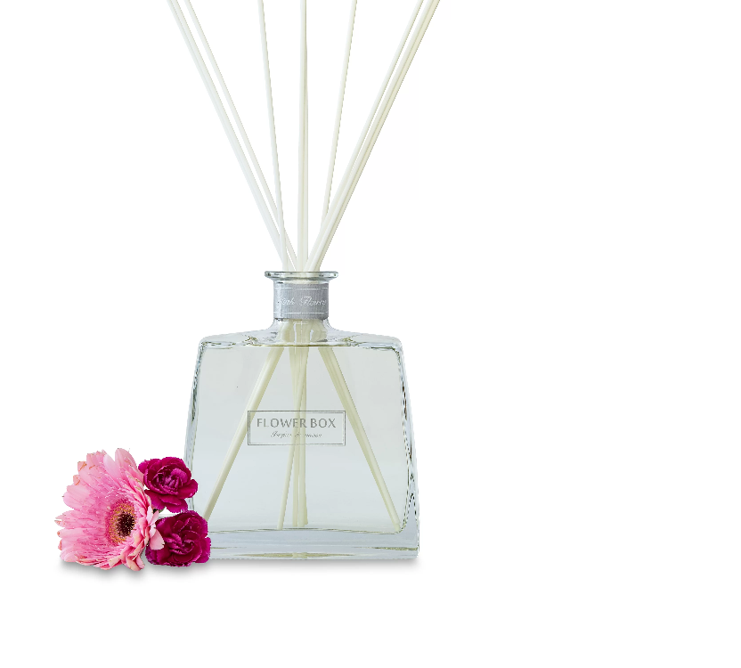 Pink Flowers 700ml Diffuser | Flower Box Home