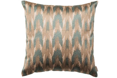 Silk Embroidered Ikat Cushion