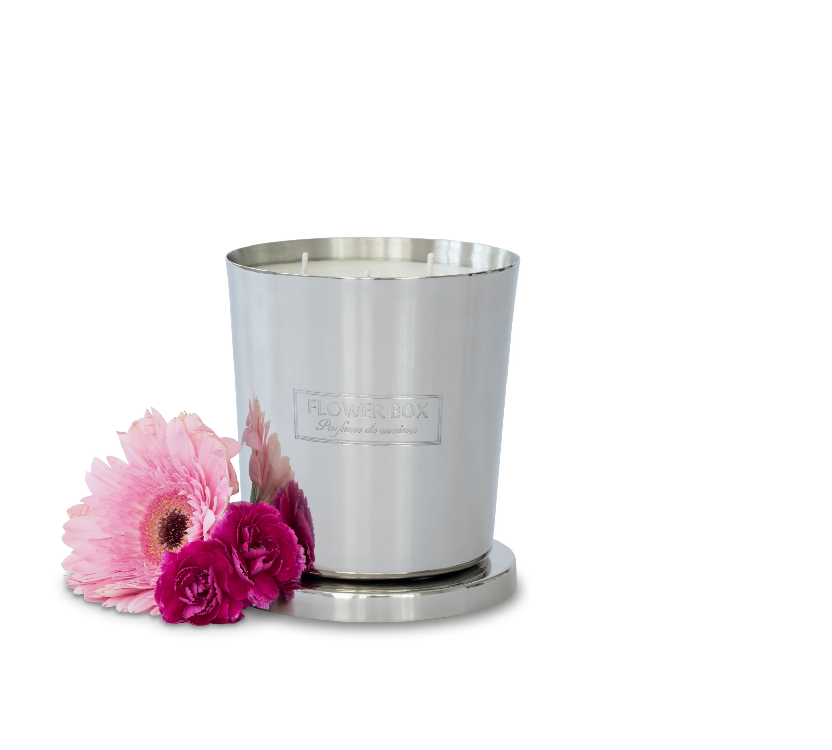 Flower Box pink flowers fragrance Candle