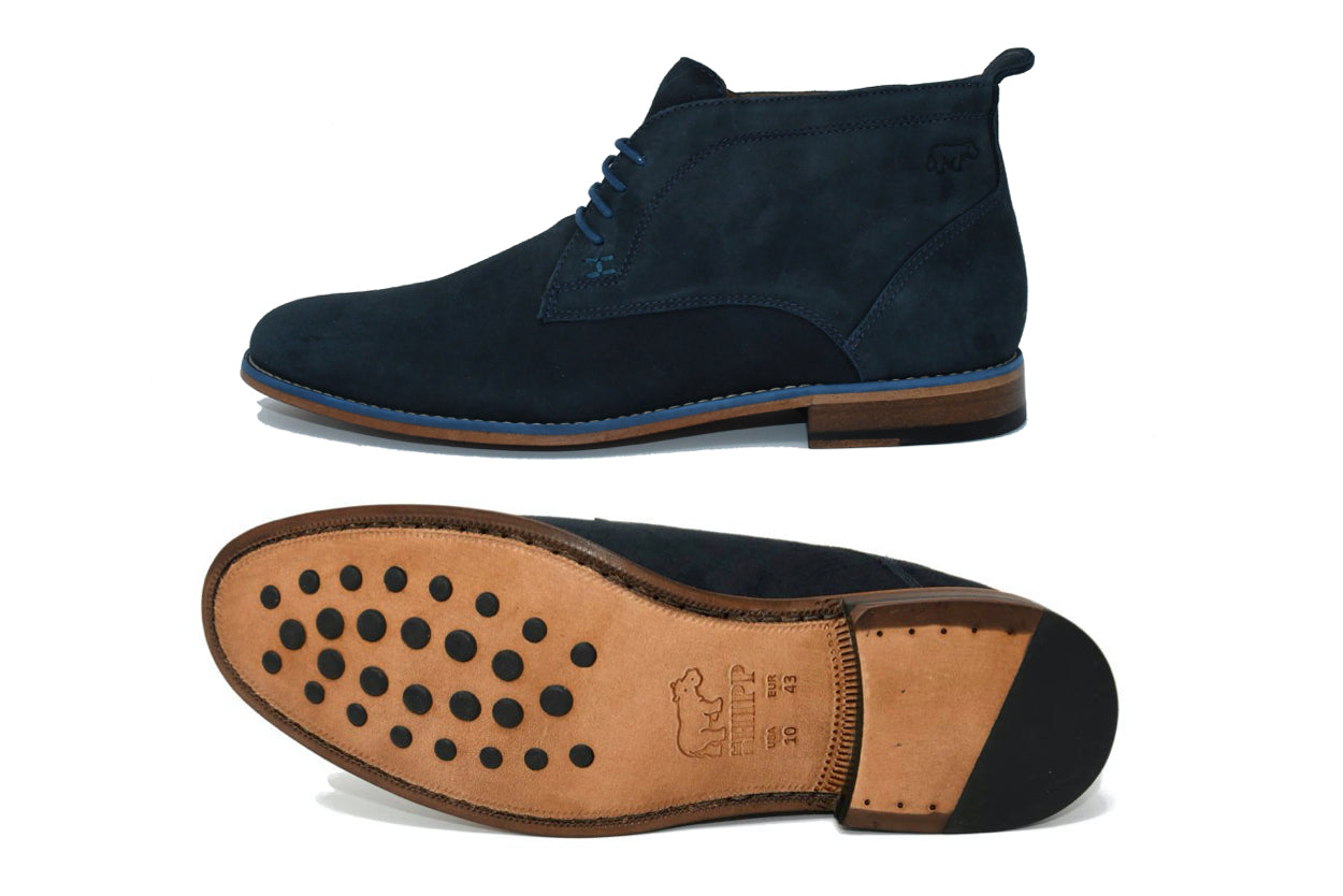 CASUAL CHIC BOOTS - NAVY BLUE & DARK BLUE