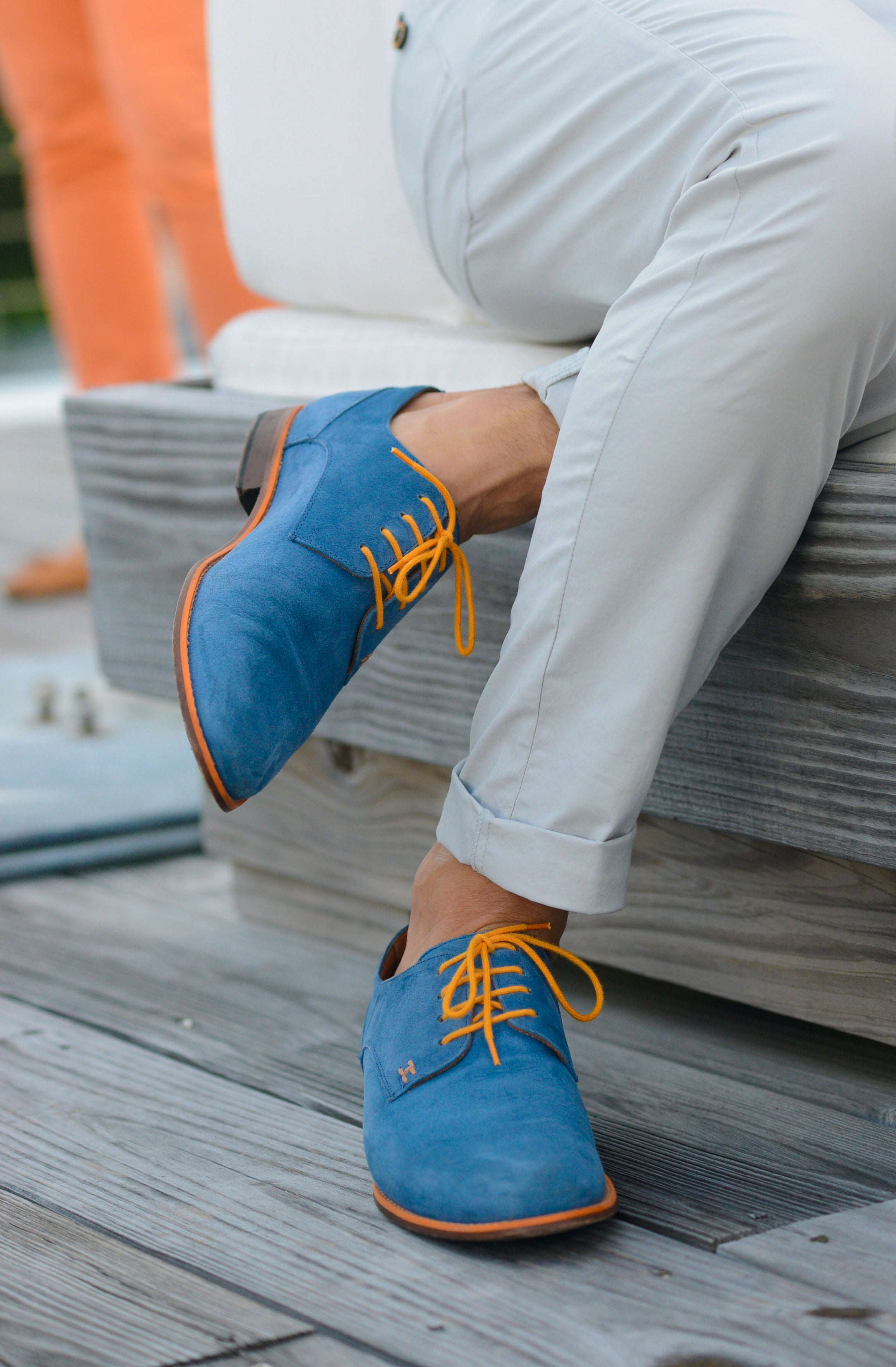CASUAL CHIC - ROYAL BLUE & ORANGE