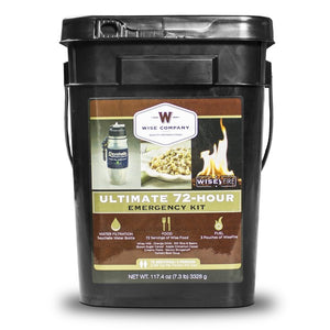 Ultimate 72 Hour Kit (72 Servings, Water Filter, Fire) - Mountaineer Tactical