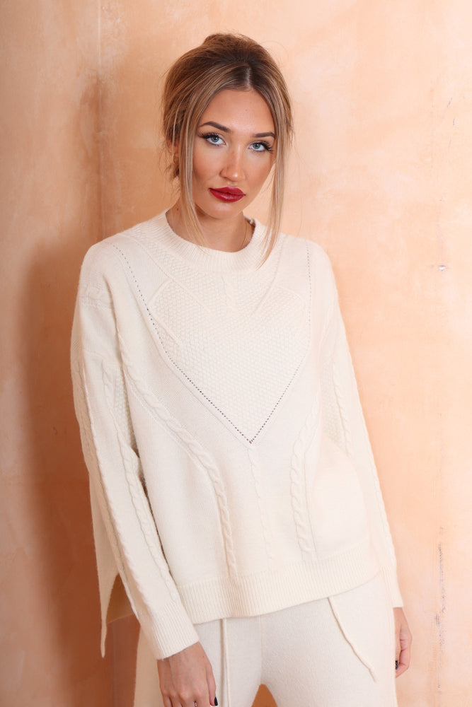 Cable Knit Lounge Wear - StudioMouthy