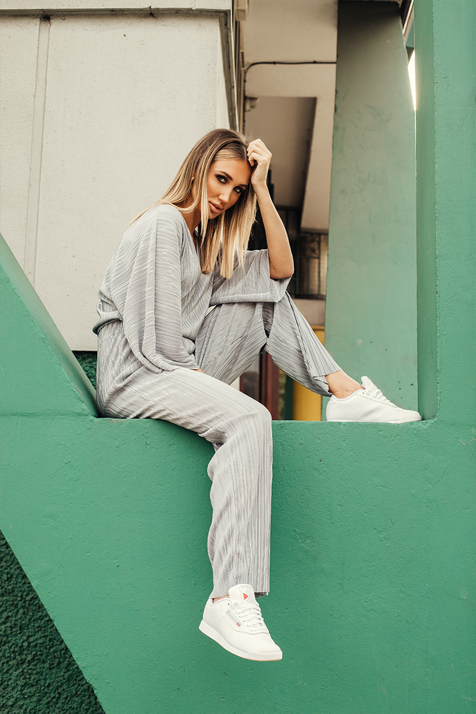 Grey Ribbed Tracksuit