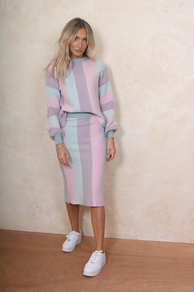 Knitted Two Piece Pastel