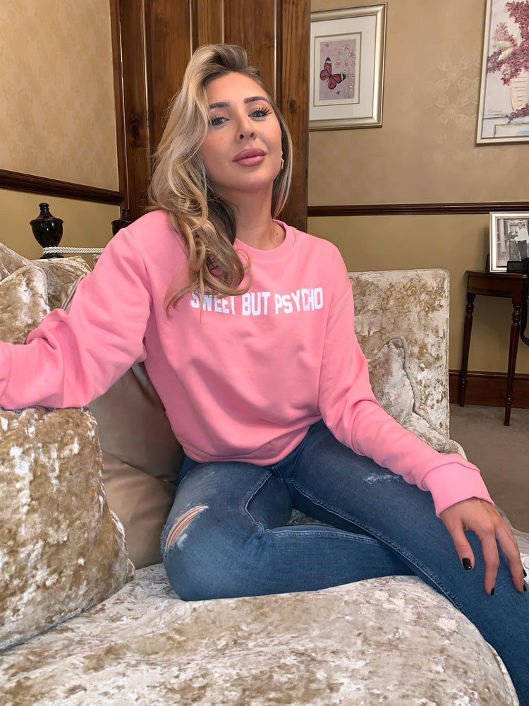 Pink Sweet But Psycho Sweatshirt