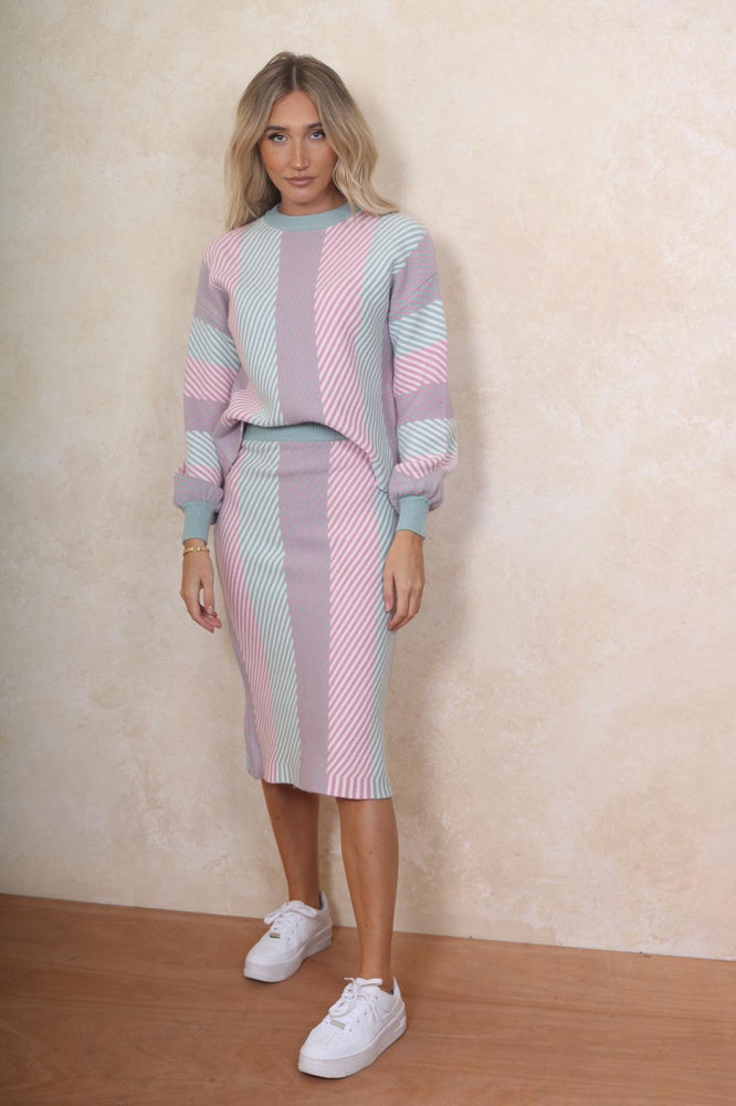 Knitted Two Piece Pastel - StudioMouthy