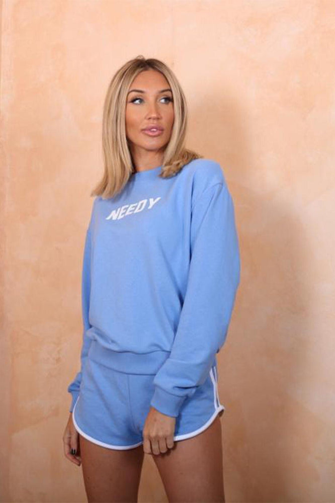 Blue Needy Sweatshirt - StudioMouthy