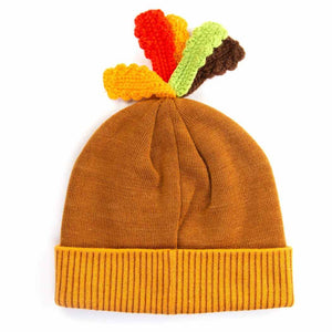 HidLids Thanksgiving Turkey Knit Beanie Hat | Adult