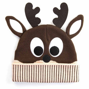 HidLids Reindeer Knit Beanie Hat | Youth